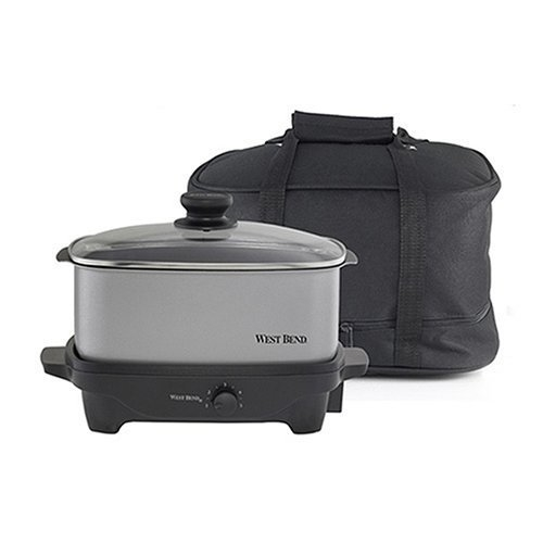 West Bend 84915 5-Qt Slow Cooker With Tote Bag 5a3ae1362a00e44ad6640f4a
