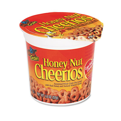 General Mills Sn13898 Honey Nut Cheerios Cereal Single-Serve 1.8 oz Cup 6-Pack 5a3bee0ce224615ab3546121