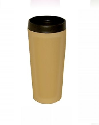 Good Life Gear Sf3007 TAN 16 oz. Hot-Cold Travel Mug With Screw On Lid - Tan 5a3bf1ece224615c9703100e