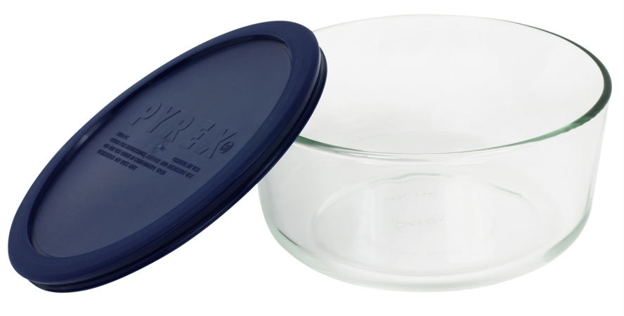 World Kitchen 7 Cup Storage Plus Round Dish With Plastic Cover 6017397 - Pack of 4 5a3c025c2a00e431165ed435