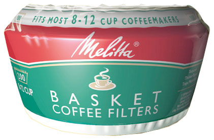 "Melitta 62957 Basket Coffee Filters with 3-1/4"" Base 5a3c028fe2246160d93f2f35"