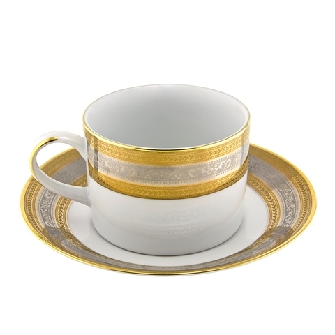 Ten Strawberry Street Elegance Gold - Can Cup And Saucer - Set Of 6 5a3c2997e2246175ce44cb53