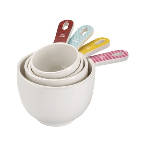Cake Boss 59587 Countertop Accessories 4-Piece Melamine Measuring Cup Set Basic Pattern 5a3c4e7c2a00e457775ee013