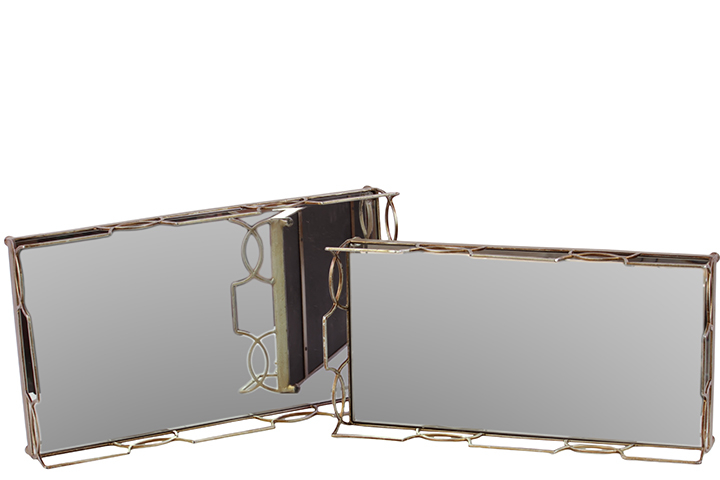 Urban Trends Collection 36033 Metal Tray with Glass Base Set of Two 5a3c6220e224610e8e3b98d7