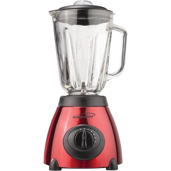 Brentwood Jb-810 5-speed Blender With Stainless Steel Base & Glass Jar - red 5a3c6b1be2246117be740a58