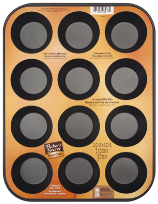 Bakers Secret 1114366 12 Cup Muffin Pan 5a3c8103e224611f232dc18c