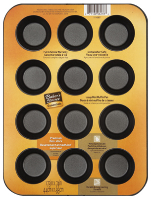 Bakers Secret 1114367 12 Cup Miniature Muffin Pan 5a3c8103e2246117c23ee077
