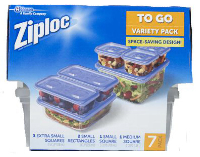 Ziploc 709391 Variety Pack Containers - 7 Count 5a3c82e12a00e46acd5a0e9a