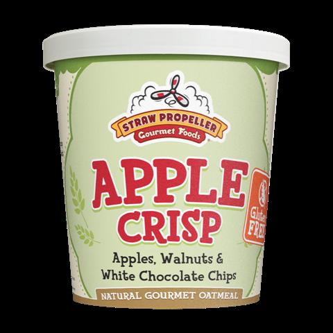 Straw Propeller Gourmet Foods 3.6 oz. Apple Crisp Hot Oatmeal, Case Pack 12 5a3d253fe2246177db650b74