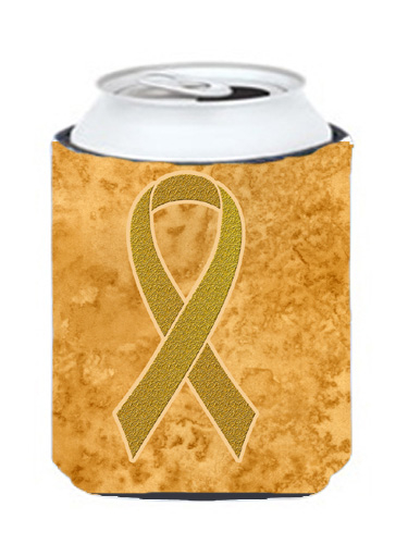 Carolines Treasures An1209Cc Gold Ribbon For Childhood Cancers Awareness Can Or Bottle Hugger 12 Oz. 5a3d26d02a00e44f85233f7e