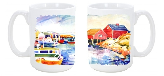Carolines Treasures 6059Cm15 Boats at Harbour with a view Dishwasher Safe Microwavable Ceramic Coffee Mug 15 oz. 5a3d2ceb2a00e45ace7f1bb6