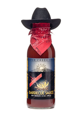Pepper Creek Farms 10A Mesquite BBQ Sauce With Cowboy Hat - Pack of 12 5a3d487ee224610fb4289dab
