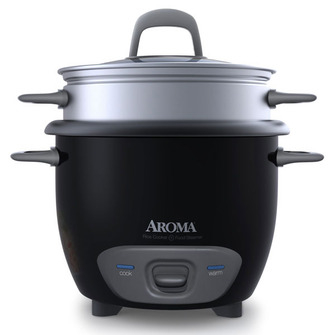 Aroma Arc-743-1Ngb Aroma Arc7431Ngb 6 CUP Rice Cooker Black 5a3d57bce22461104600c917