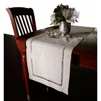 Nice & Great Beautiful Hemstitched Table Runner Quality Natural Tablecloth - 72 in. Long 5a3d595c2a00e466a94e242b