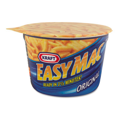 Kraft. 01641 Easy Mac Macaroni & Cheese Micro Cups 2.05 oz. 10-Carton 5a3d63e52a00e46e08021722