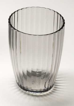 Carnation Home Fashions Ba-Abl-Tu-16 Ribbed Textured Tumbler Black 5a3d89f42a00e47b3d26ebce