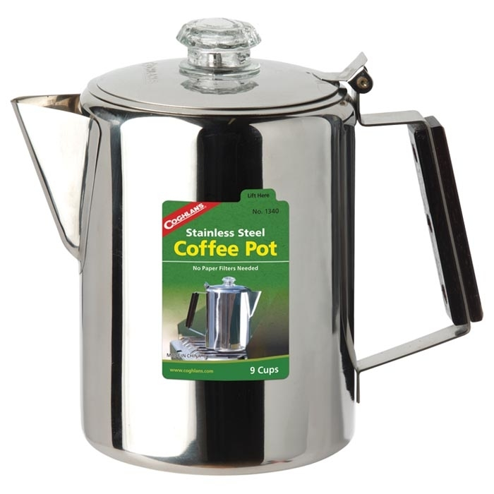 Stainless Steel Coffee Pot - 9 Cup 5a3d90efe224612eb36eca9e
