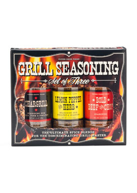 Pepper Creek Farms 80A 3 Pieces BBQ Seasoning & Grilling Set - Pack of 12 5a4035a9e22461378936f611