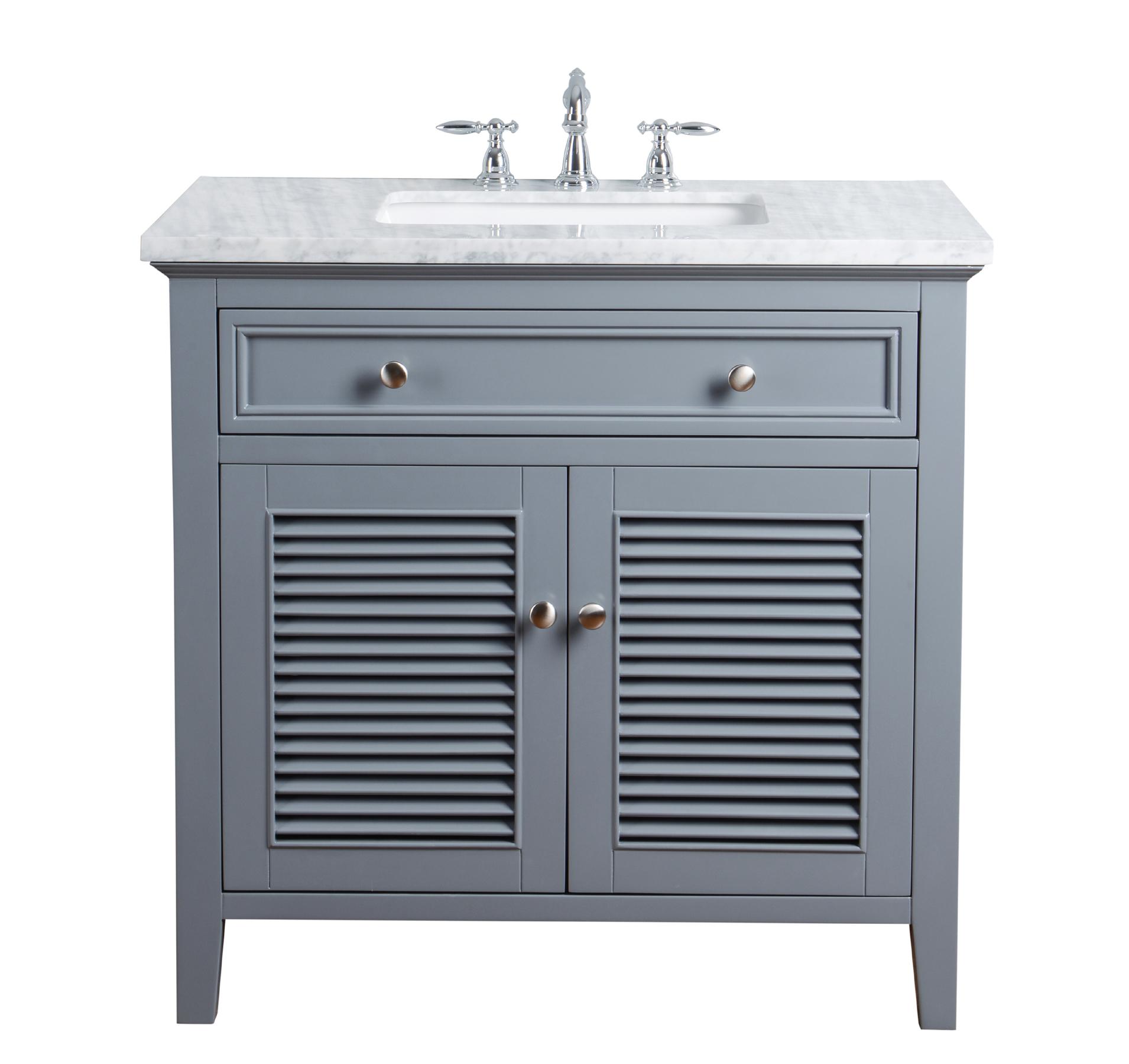 Vanity Cabinet Shutter Double Doors Single Bathroom