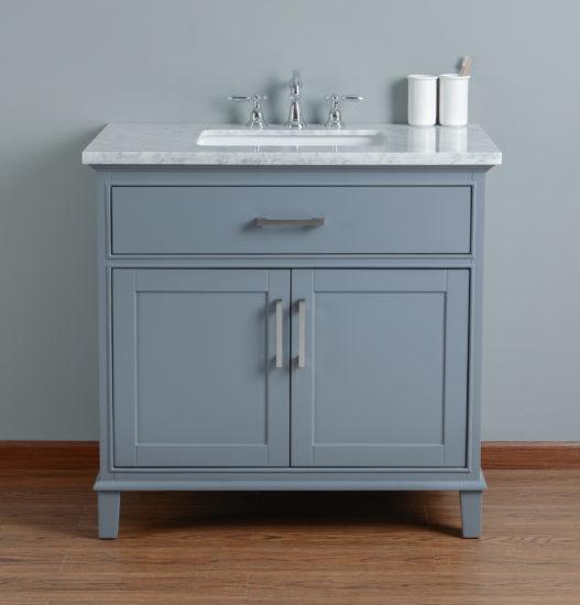 Sink Bathroom Vanity Grey Leighsingle