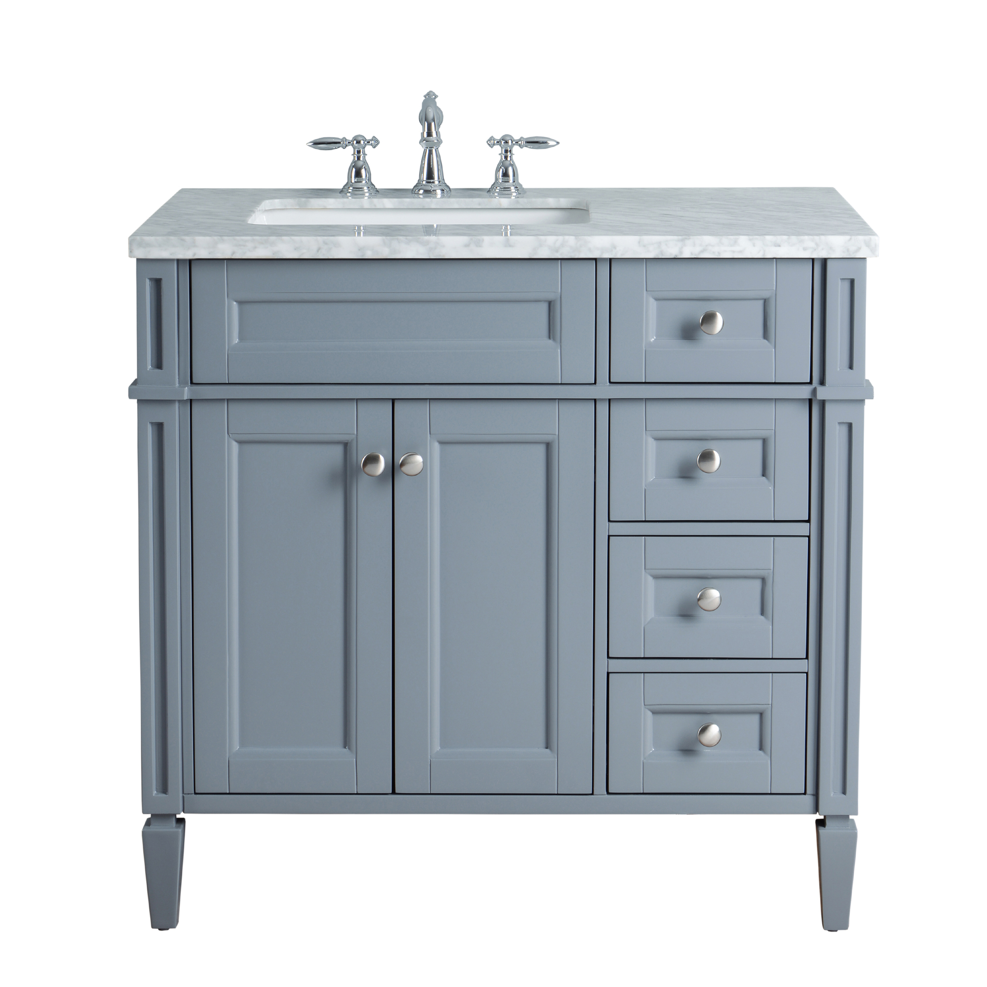 Frenchsingle Sink Bathroom Vanity Grey Anastasia