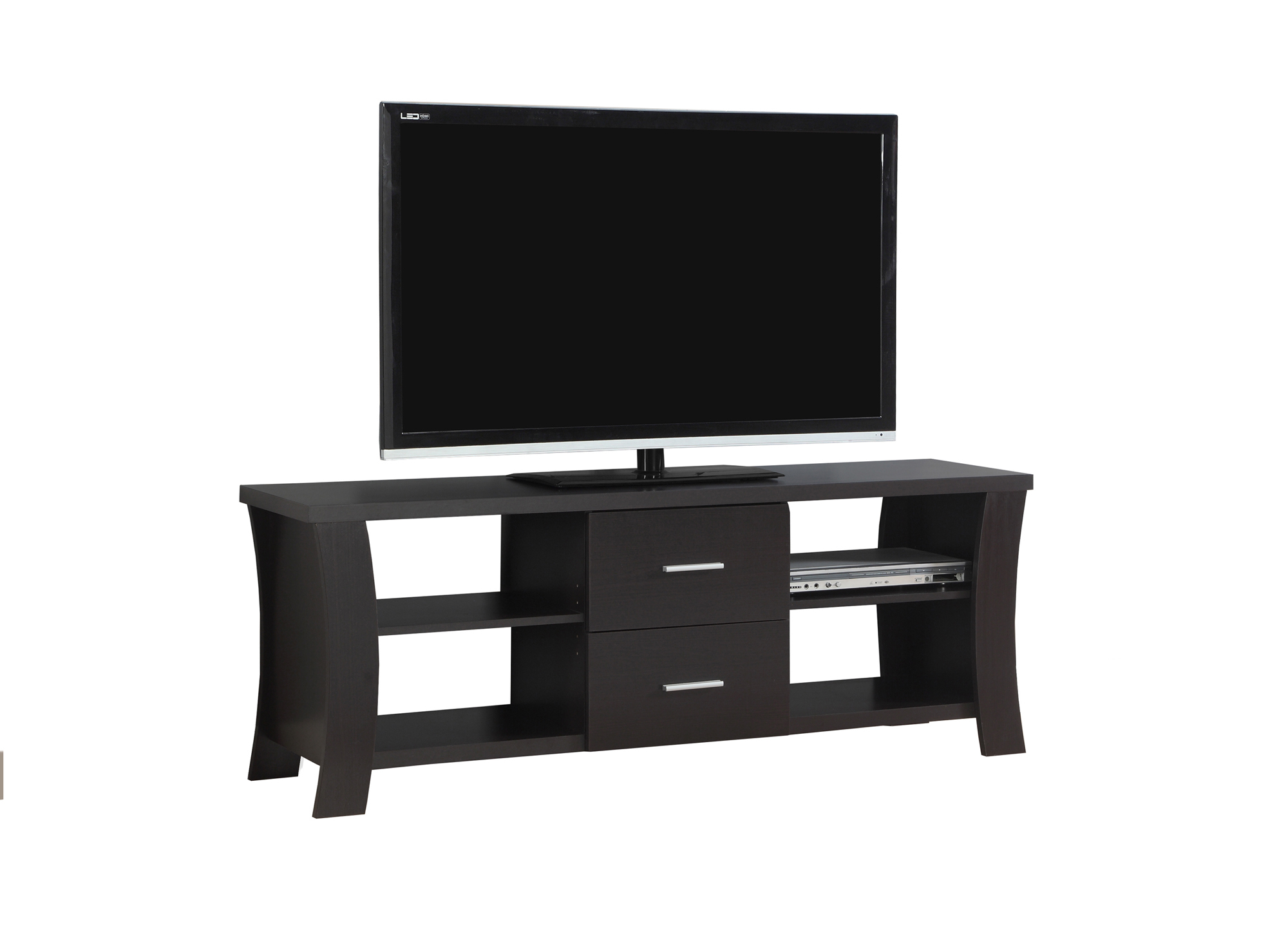 """TV Stand - 60\""""l, Cappuccino With 2 Drawers, 2683 5a5461f22a00e41a3d4fa5d6"""
