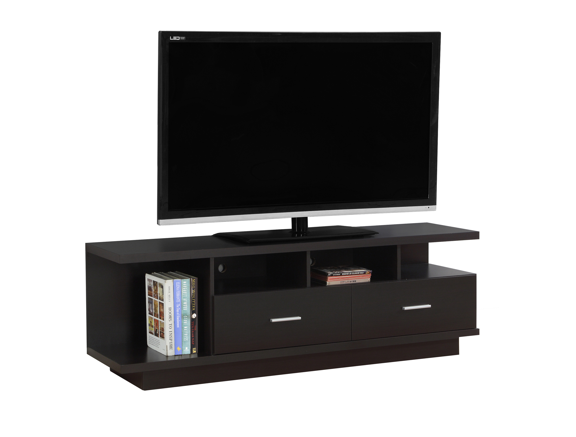 """TV Stand - 60\""""l, Cappuccino With 2 Drawers, 2674 5a5461f2e224613745476f66"""