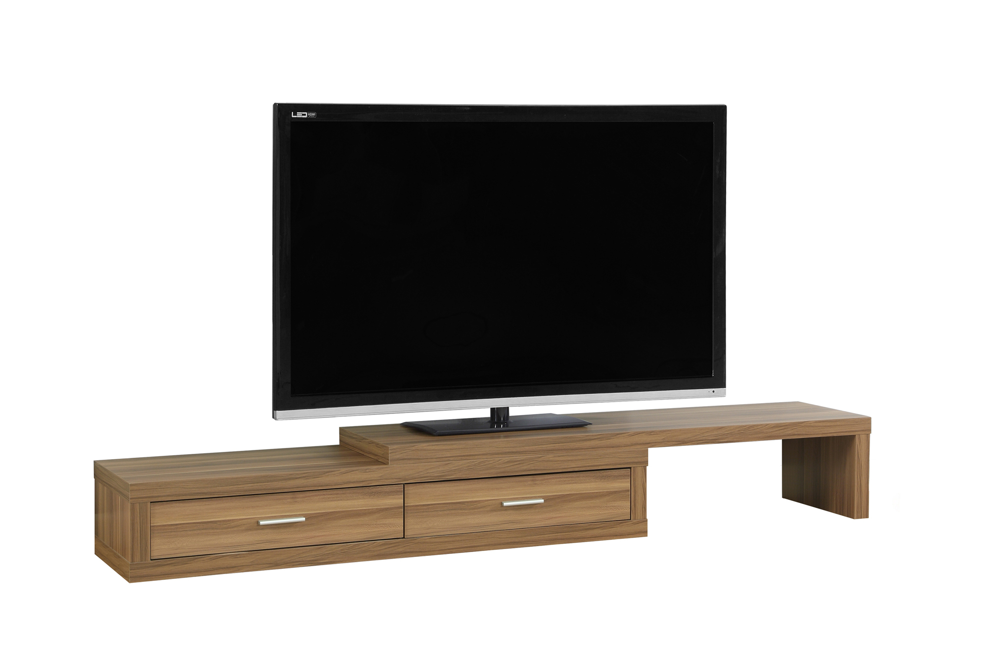 """TV Stand - 60\""""l TO 98\""""l, Expandable, Walnut"""