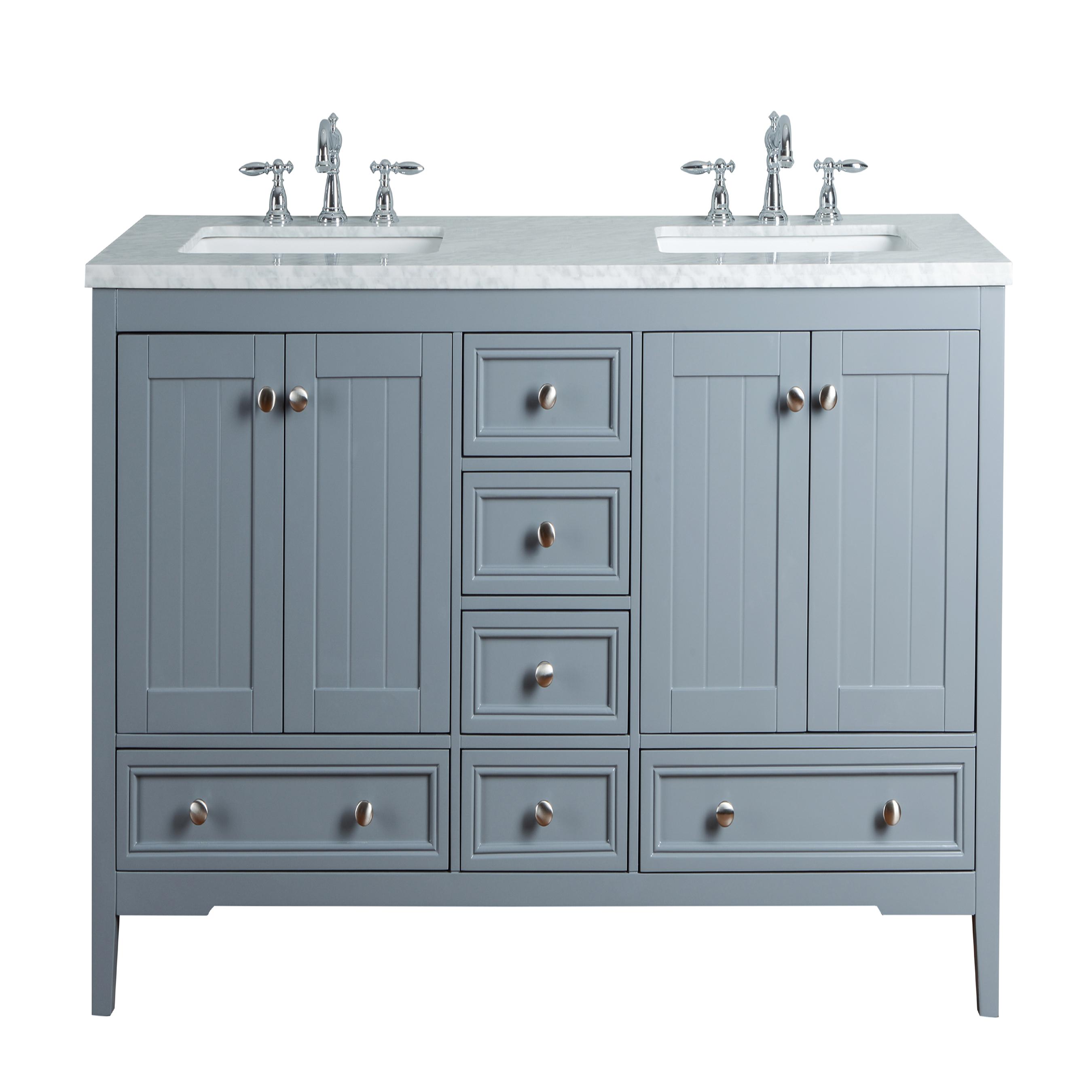 Yorker Double Sink Bathroom Vanity Grey New