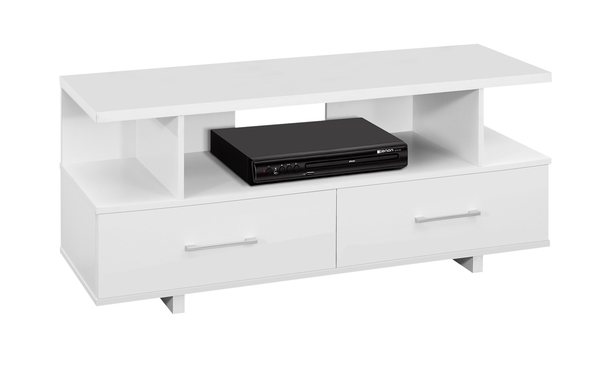 """TV Stand - 48\""""l, White With 2 Storage Drawers, 2605"""