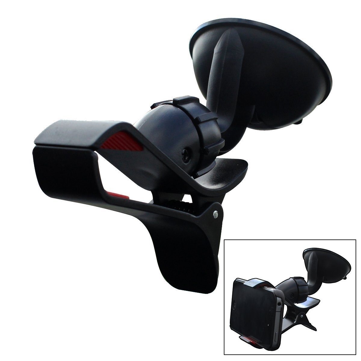 Furinno Easy Mount Suction Universal Car Phone Mount Holder, Black 589954d5c98fc41ef334087b