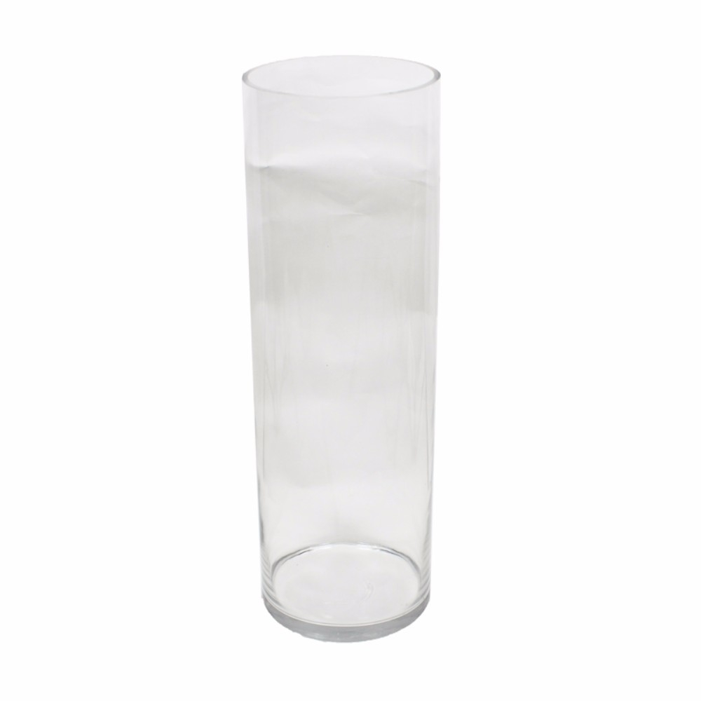 Cilynder Shaped Glass Vase, Clear 5a670cef2a00e413b25d3f7f