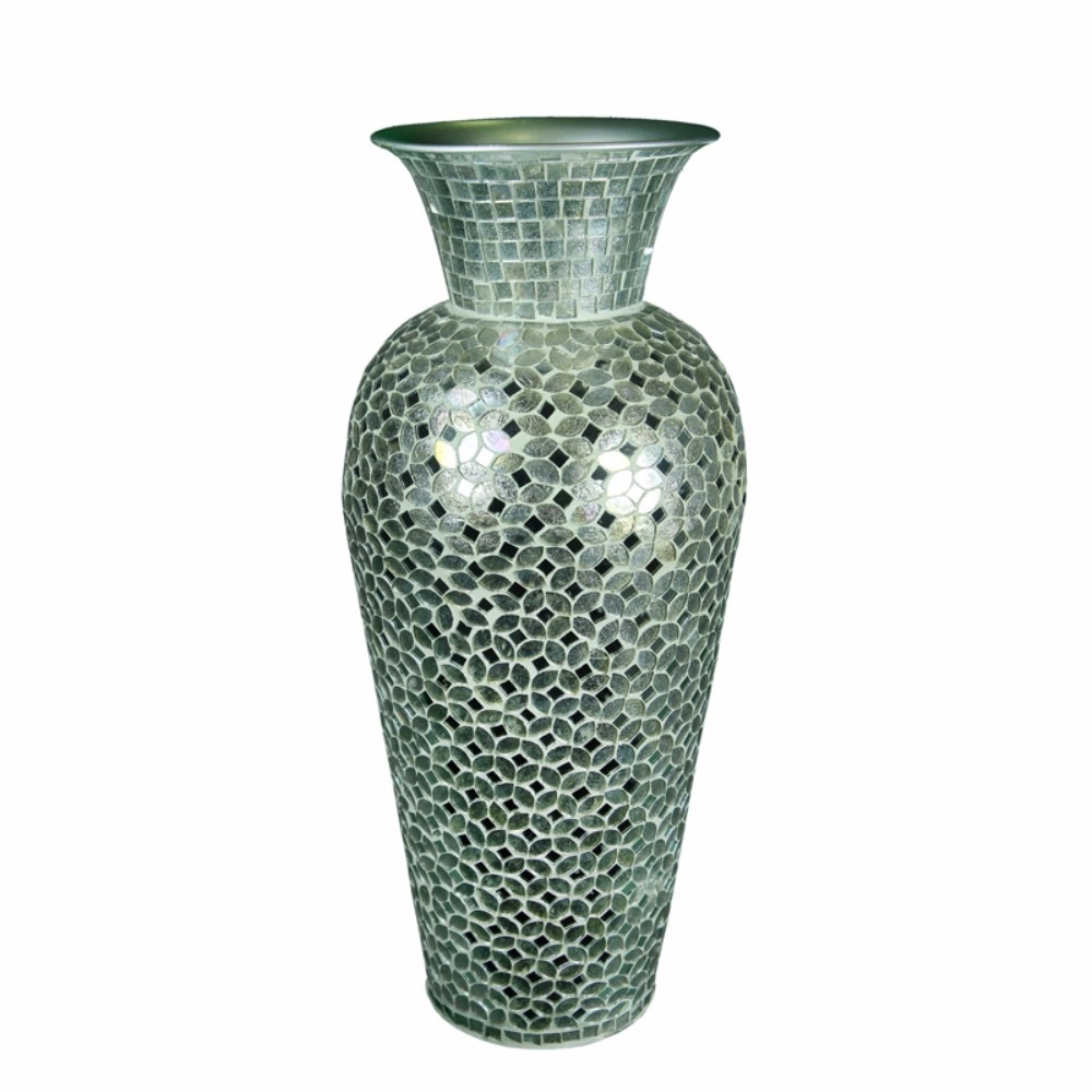 Beautifully Designed Mosaic Vase, Silver 5a670cf1e224616b320a4ae5