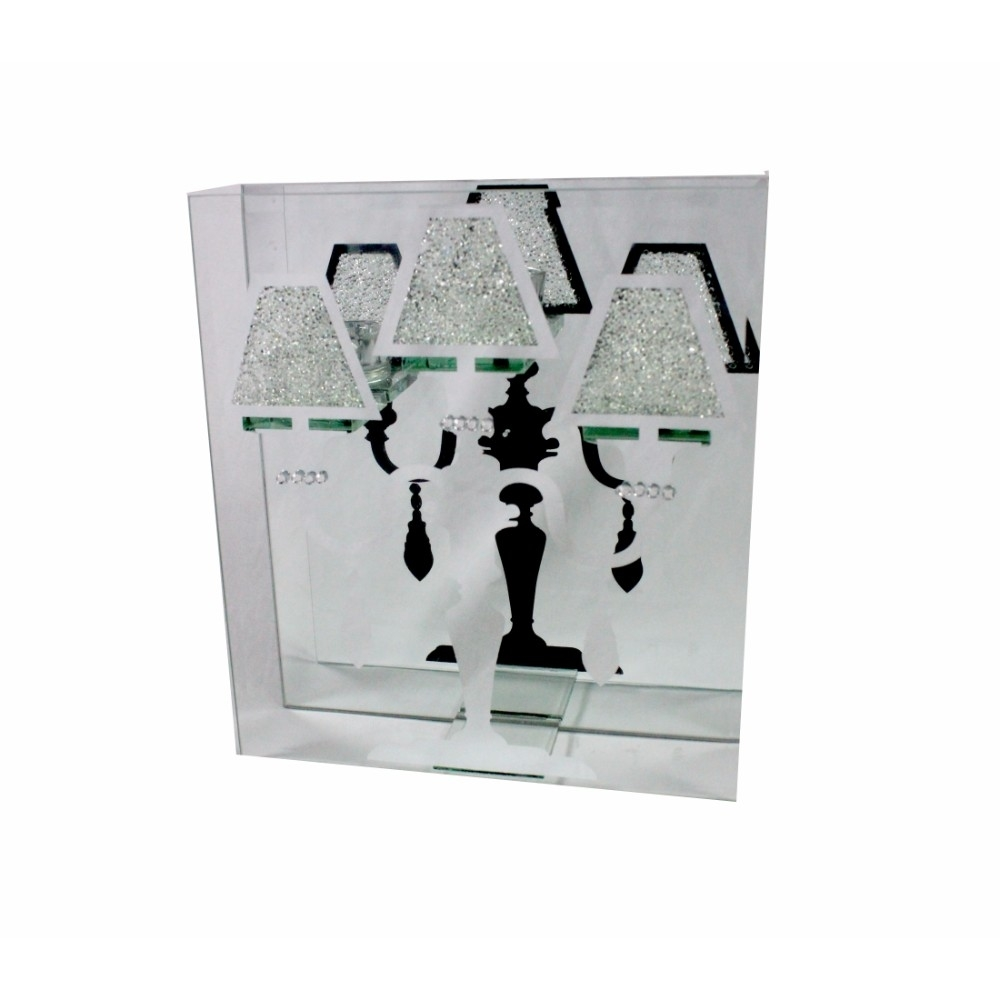 Sparkling Glass Candle Holder, Clear 5a670cf8e224616b320a4c5f