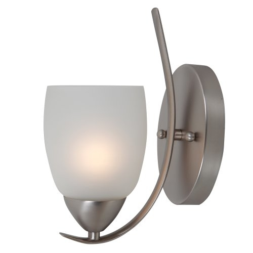 Mirror Lake Royal Styled 1 Light Wall sconce in Brush Nickel by Yosemite Home Decor 5a6ca7c32a00e47958257e93