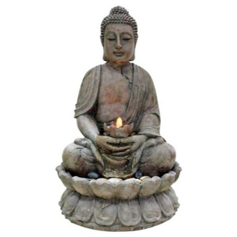 Buddha Water Feature with LED Lights 589953b3c98fc433fd261523