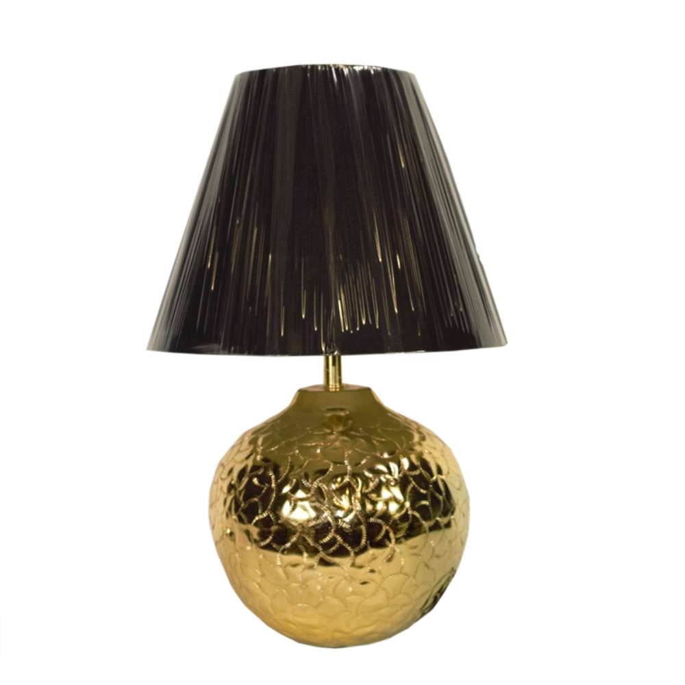 Striking Aluminum And Nickle Lamp, Gold 5a6ca828e224617642507649