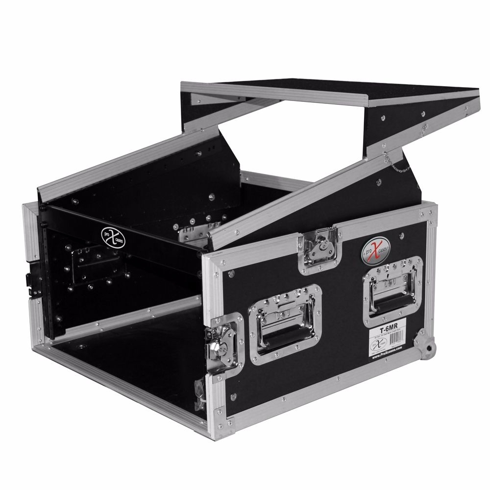 Prox6U Verticalfront Load Mixer Combo Amp Rack Case 10U Top Slant W/ Laptop Shelf 58995637c98fc433fd26714a