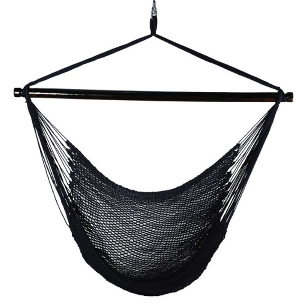 Attractively Styled Hanging Caribbean Rope Chair By Alogma