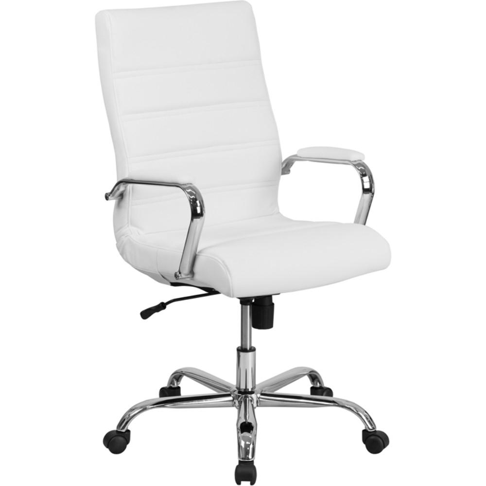 High Back White Leather Chair 5a6f02cf2a00e453541706da