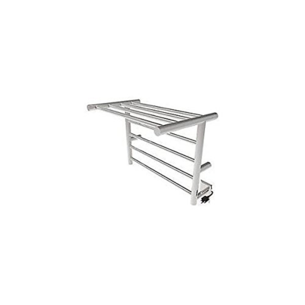 Amba Rsh-B Wall-Mounted Towel Warmer with Shelf, Brushed Stainless 5a7340852a00e47ef35789f1