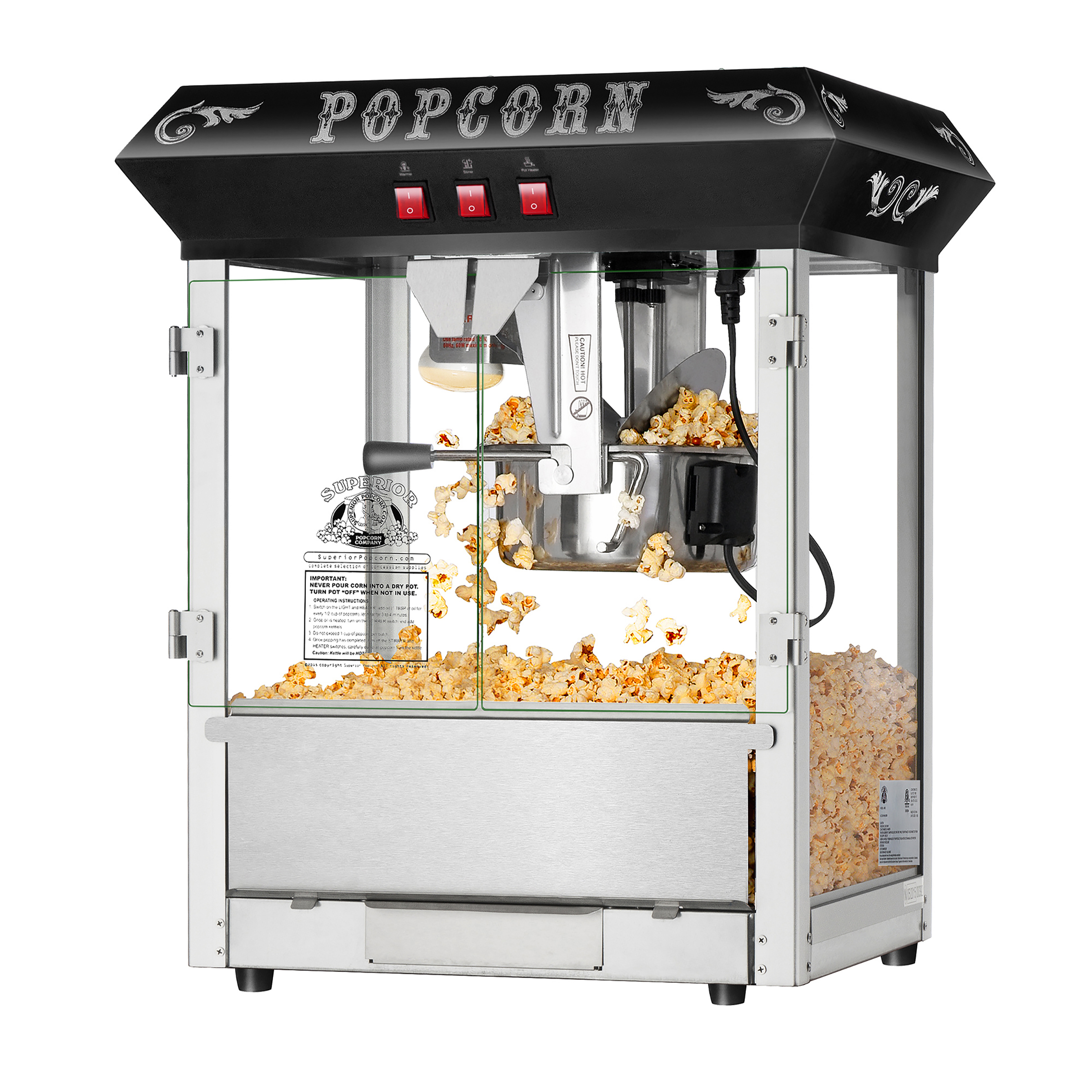 Dtx Intl Fresh Countertop Style Popcorn Popper Machine Makes Appro Gallons Per Batch Superi
