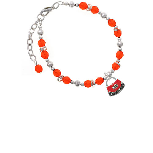 Red Purse Orange Beaded Bracelet (BR-C4085-C2231) photo
