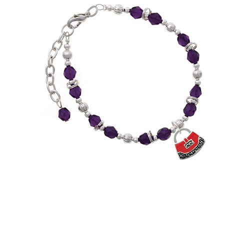 Red Purse Purple Beaded Bracelet (Delight) photo