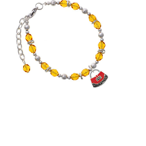 Red Purse Yellow Beaded Bracelet (Delight) photo