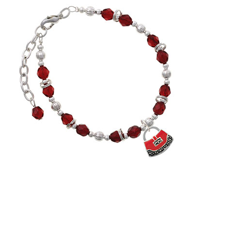 Red Purse Maroon Beaded Bracelet (Delight) photo