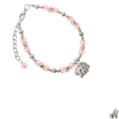 Loved Elephant with Baby Pink Beaded Bracelet