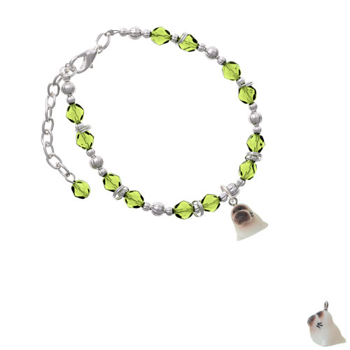 Resin Baby Seal Lime Green Beaded Bracelet