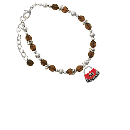 Red Purse Brown Beaded Bracelet (Delight) photo