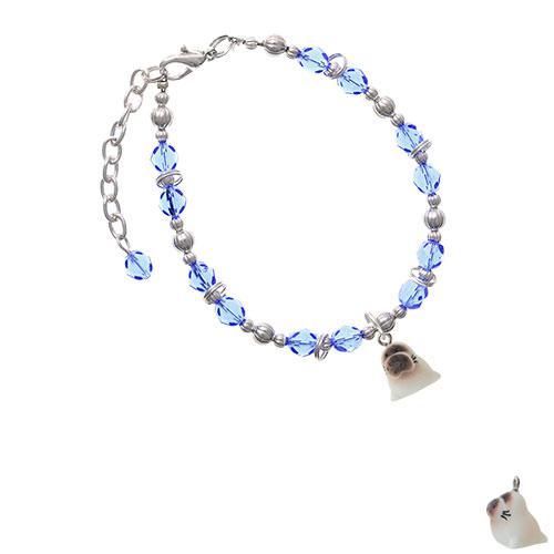 Resin Baby Seal Light Blue Beaded Bracelet